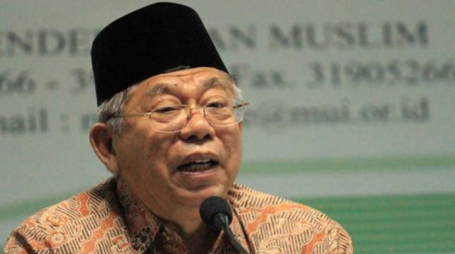 Ketua Majelis Ulama Indonesia KH Ma'ruf Amin. (Foto: Berita Teratas)
