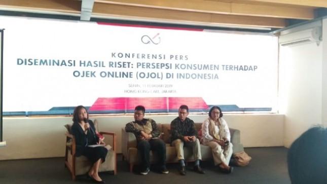 Konferensi pers Diseminasi Riset: Persepsi Konsumen terhadap ojek online di Indonesia