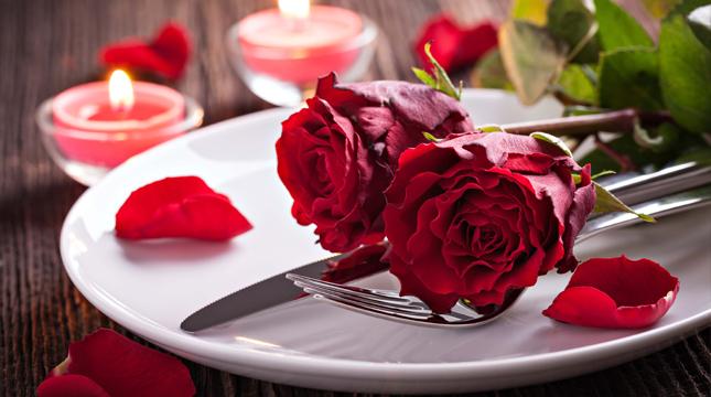 Sweet Valentines Day Dinner