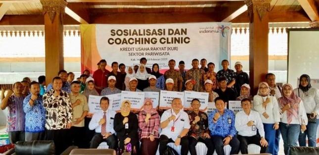Acara Sosialisasi dan Coaching Clinic Program KUR pelaku Usaha Mikro Kecil dan Menengah (UMKM) Pariwisata Bromo Tengger Semeru