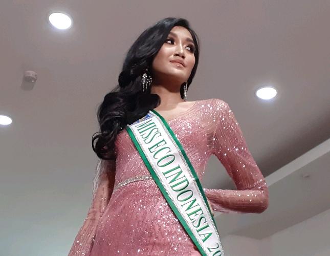 Miss Earth Indonesia 2018 Ratu Vashti Annisa (Foto: Ridwan/Industry.co.id)