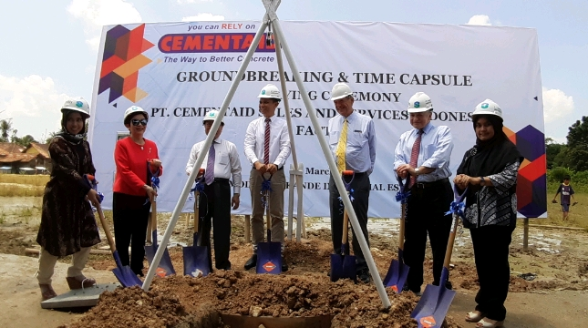 Groundbreaking pabrik PT Cementaid Sales and Serivices Indonesia (Foto: Ridwan/Industry.co.id)