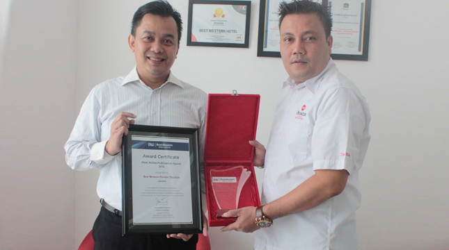 Best Western Premier The Hive Raih The Most Active Publication Award 2016