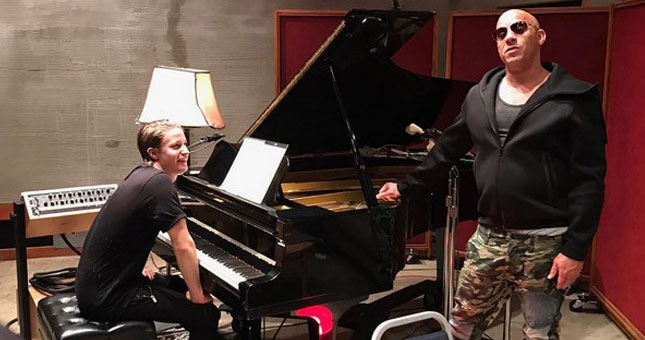 Vin Diesel dan Kygo (Ist)