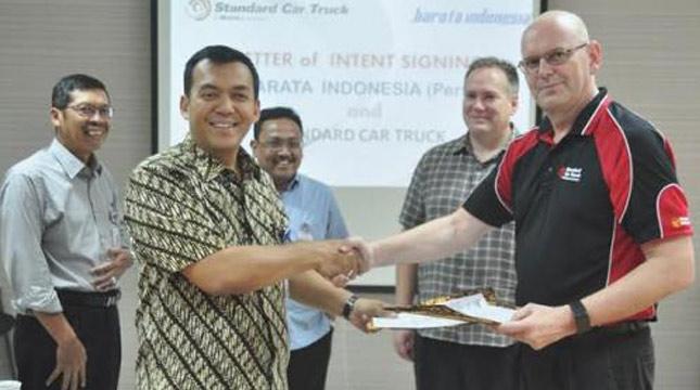 PT Barata Indonesia (persero) lakukan penandatanganan Letter of Intent (LoI) dengan, Standart Car Truck (SCT) a Wabtec Subsidiary Company