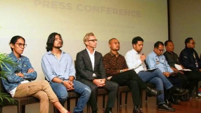 Konperensi pers Laporan Hasil Tim Anti Pembajakan Film