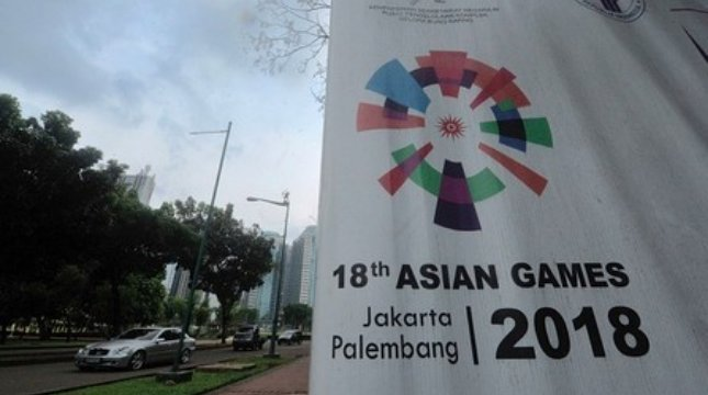 Ilustrasi persiapan Asian Games 2018 di Jakarta. (AFP/Bay Ismoyo)