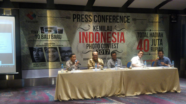 Press Conference Kemilau Indonesia Photo Contest (KIPC) 2017 (Chodijah Febriyani/INDUSTRY.co.id)