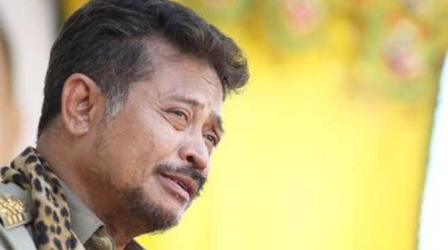 Gubernur Sulawesi Selatan (Sulsel) Syahrul Yasin Limpo