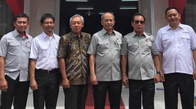 Direktur Jendral Kelembagaan IPTEK DIKTI Patdono Suwignjo hadir dalam acara pendirian sekolah vokasi AKSI di Rembang dan Pidie hari ini di kampus AKSI Rembang (duta)