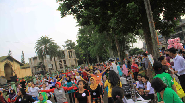 Rayakan Anniversary, Grand Savero Bogor Selenggarakan Event Fun Aerobic