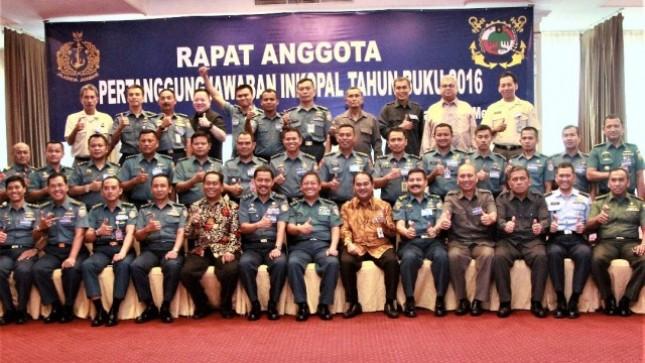 Rapat Anggota Pertanggungjawaban Induk Koperasi TNI Angkatan Laut (Inkopal) Tahun Buku 2016 di Jakarta, Rabu (24/5/2017).
