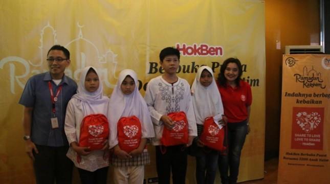 HokBen Gelar Buka Puasa Bersama 3.200 Anak Yatim Serentak
