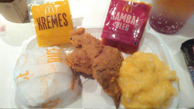 Ayam Kremes Sambel Uleg khas McDonald. (Foto: IST)