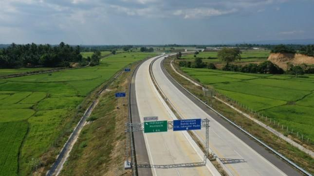 Jalan Tol Banda Aceh Sigli Seksi 3 Sepanjang 16 Km