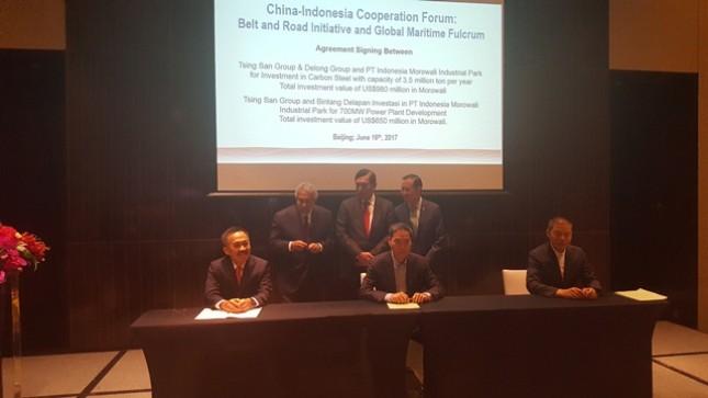 Industri RI-Tiongkok Sepakat Investasi US$ 1,36 M di Morowali Industrial Park