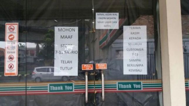 Seluruh Gerai 7 - Eleven di Indonesia Berhenti Beroperasi Akhir Juni