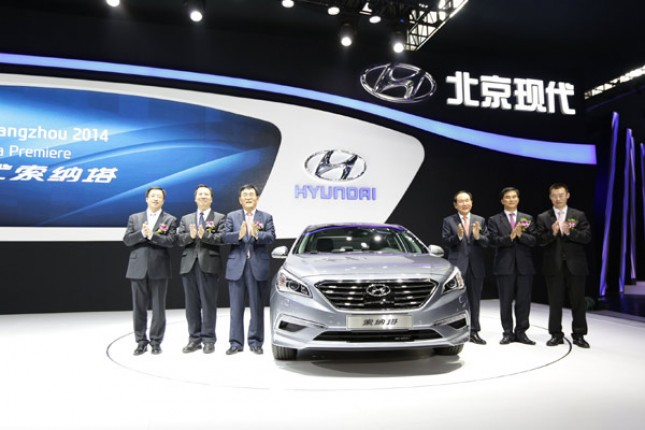 peluncuran Hyundai All new Sonata di Beijing China (images by ChinaDaily)