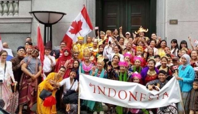 Parade Budaya Indonesia di Perayaan Hari Kanada ke-150 (Foto Viva)