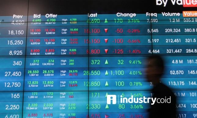 Perdagangan saham di IDX (Rizki Meirino/Industry.co.id)