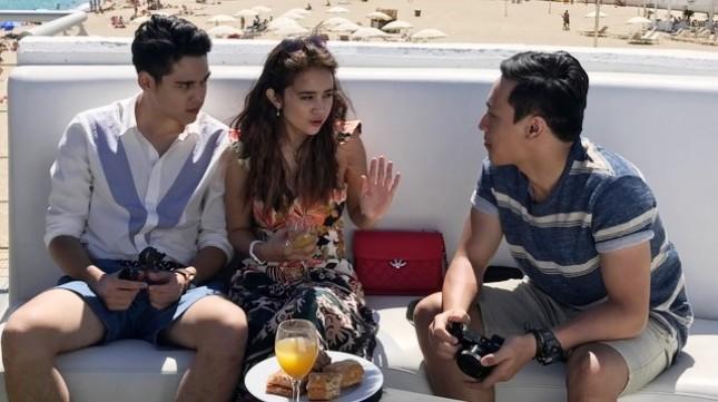 """Adegan film """"One Fine Day"""" yang tengah syuting di Barcelona Spanyol"""