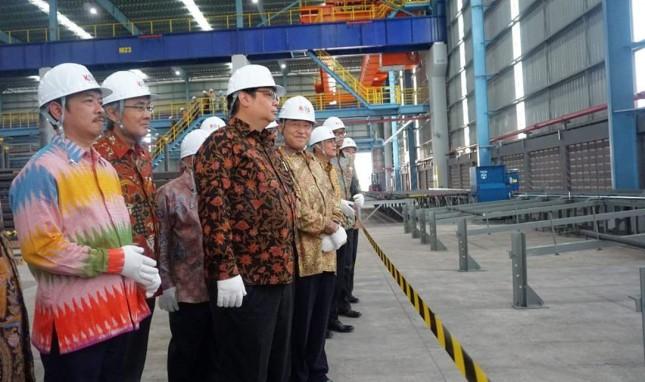 Menperin meresmikan pabrik baja krakatau osaka steel (dok-kemenperin)