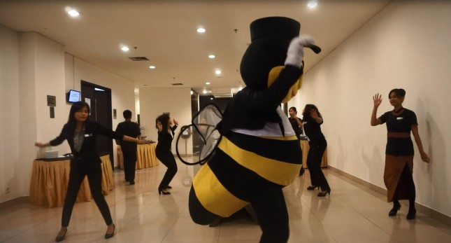 Kejutan Flash Mob di Best Western Premier The Hive (Foto Ist)