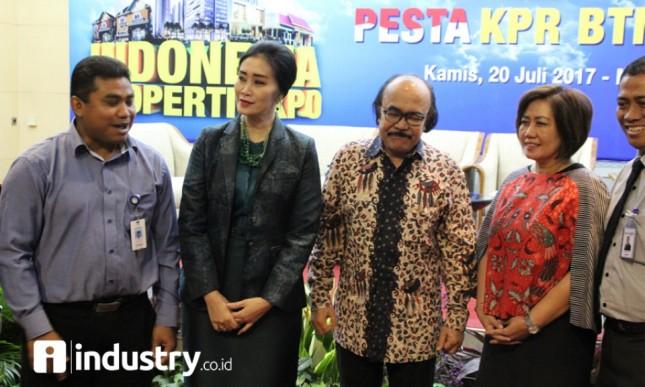 Direktur Bank BTN Handayani menerangkan saat acara developer gathering Indonesia Property Expo 2017 di Jakarta, Kamis 20 Juli 2017 (Foto Rizki Meirino)