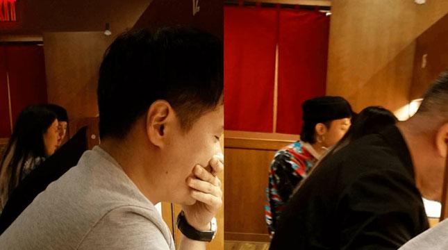 G-Dragon Saat Makan di Restoran Ramen di New York (Foto:jinfryj/Instagram)