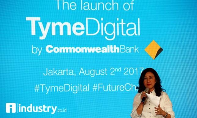President Direktur Bank Commonwealth Lauren Sulistiawati luncurkan layanan Tyme Digital.