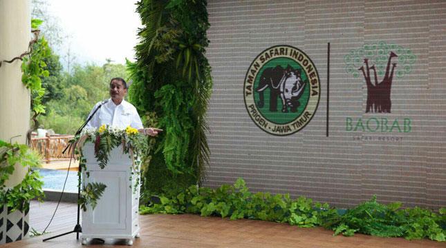 Menteri Pariwisata, Arief Yahya Meresmikan Baobab Resort di Taman Safari II Prigen, Pasuruan (Foto: Kemenpar)