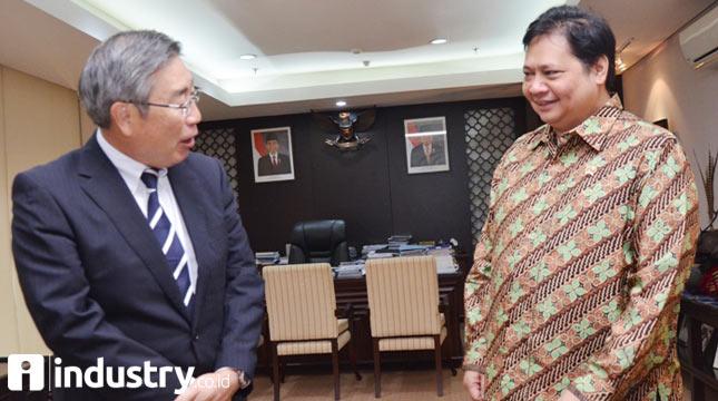 Menteri Perindustrian Airlangga Hartarto bertemu CEO Asahi Glass Co. Ltd (AGC) Jepang, Takuya Shimamura