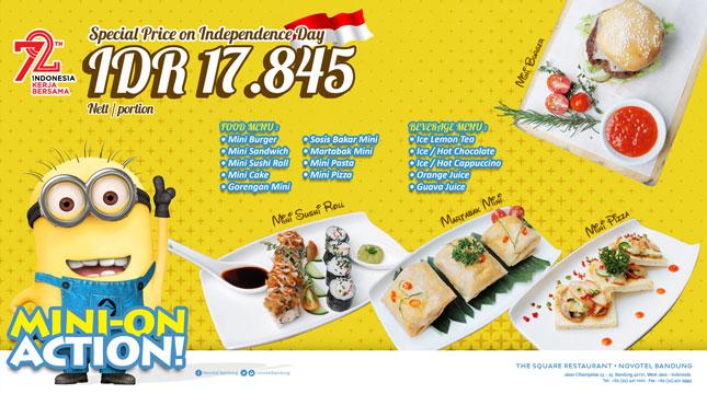 Menu Mini-On Action di The Square Restaurant di Novotel Bandung
