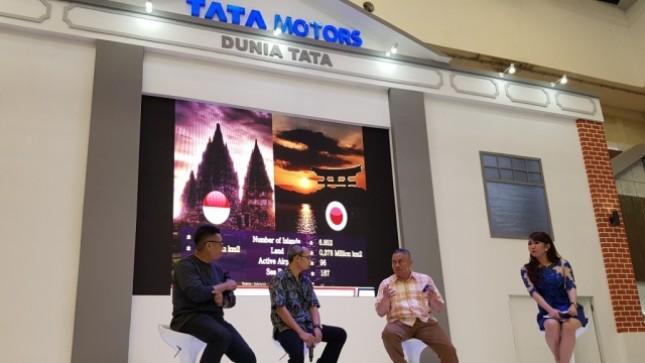 PT Tata Motors Distribusi Indonesia (TMDI), Agen Pemegang Merek Tata Motors di Indonesia gelar Talkshow Bisnis Logistik di Era Ekonomi Digital Sabtu (12/8/2017)