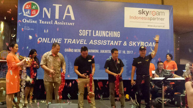 Soft Launching OnTA (Online Travel Assistant) di di Hotel Grand Mercure, Harmoni, Jakarta, Rabu (16/8/2017) (Chodijah Febriyani/Industry.co.id)