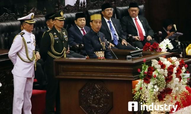 Presiden Jokowi menghadiri Sidang Tahunan MPR Tahun 2017 Rabu (16/8) (Foto Rizki Meirino)