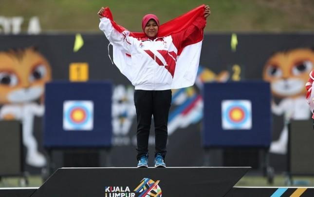 Panahan sumbang dua emas pertama indonesia di sea-games 2017 (foto Jawapos.com)