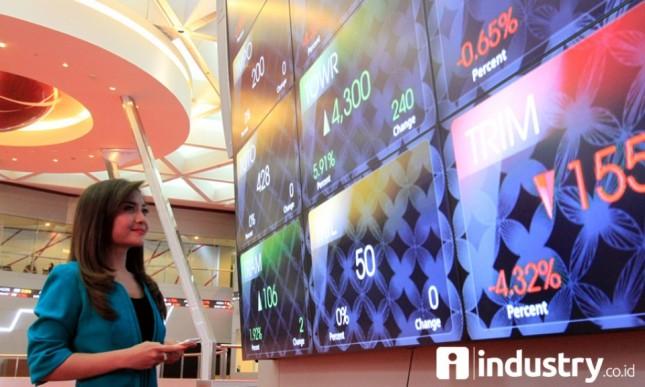 Indeks harga saham gabungan (IHSG) di gedung Bursa Efek Indonesia (dok INDUSTRY.co.id)