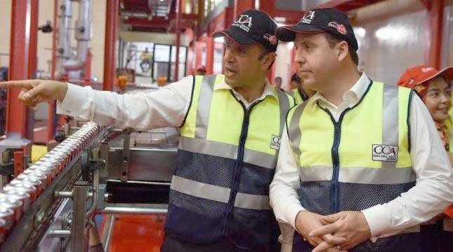 Menteri Australia Perdana Kunjungi Pabrik Coca-Cola Amatil Indonesia