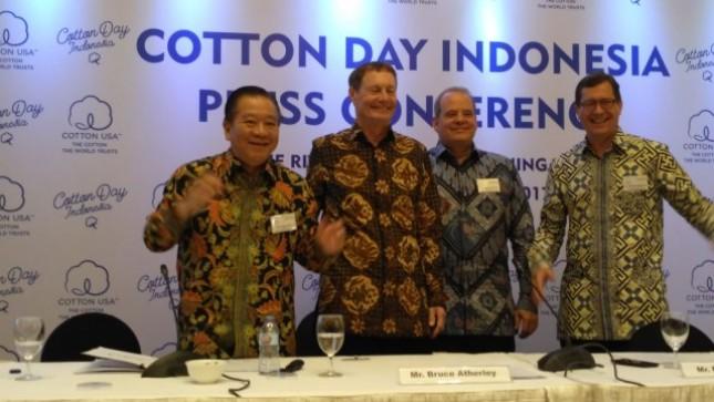 Cotton Council International menggelar acara Indonesian Cotton Day dalam mempromosikan kapas dan produk kapas asal Amerika Serikat atau Cotton USA kepada 100 pelaku pemimpin perusahaan tekstil dan garmen di Indonesia.