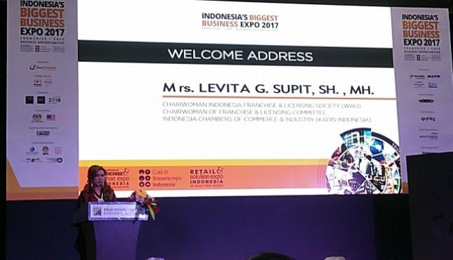 Ketua Umum Wali dan Ketua Komite Tetap Kadin Bidang Waralaba, Lisensi dan Kemitraan, Levita G. Supit