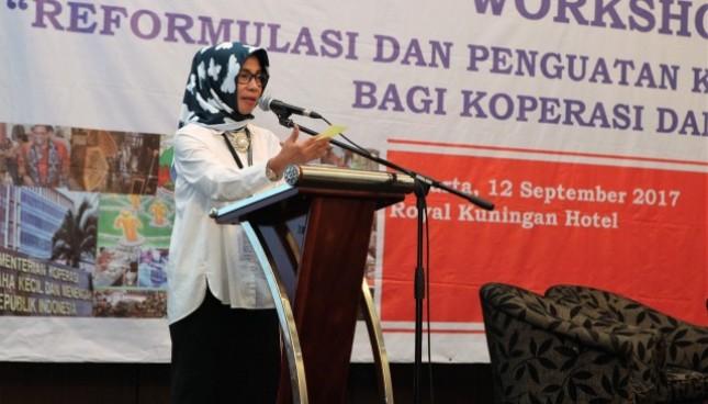 Deputi Bidang Pembiayaan Kementerian Koperasi dan UKM Yuana Sutyowati