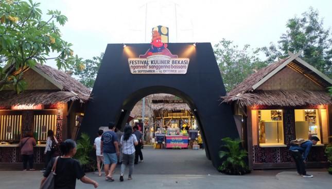 Nuansa Makassar di Festival Kuliner Bekasi 2017. (Foto: IST)