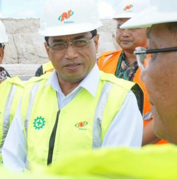 Menhub Budi Karya Sumadi tinjau kesiapan proyek infrstruktur (Foto Humas)