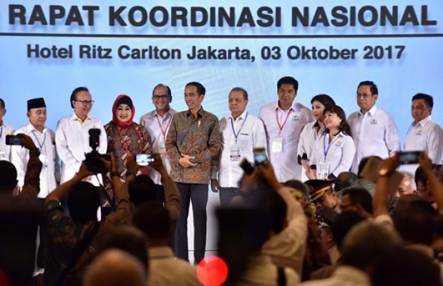 Presiden Jokowi menghadiri acara KADIN, Selasa (3/10) (foto: Humas/Jay))