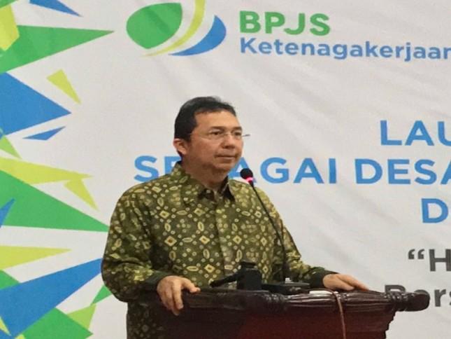 Direktur Perluasan Kepesertaan BPJS Ketenagakerjaan, E. Ilyas Lubis.