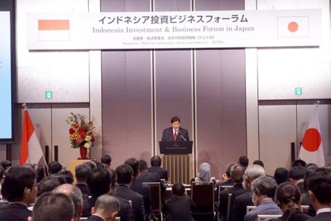 Menperin Airlangga Hartarto bersama pelaku industri Jepang (Foto Humas)