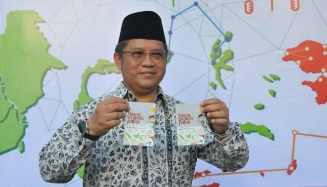 Menteri Komunikasi dan Informatika Rudiantara Luncurkan Uang Elektronik