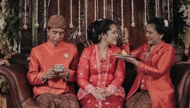 Presiden Jokowi Apresiasi Relawan yang Hadiri Prosesi Pernikahan (Foto Setkab)
