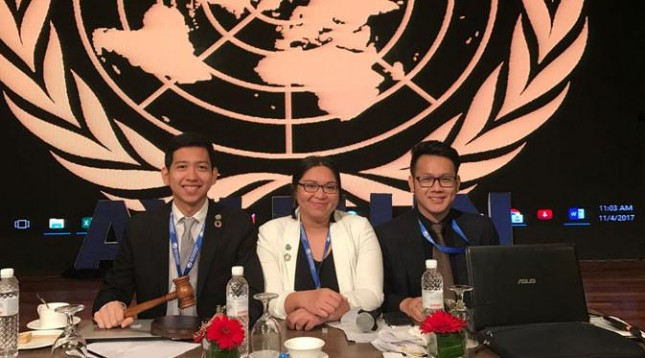 Mahasiswa President University, Rizki Nugraha ditunjuk oleh Asia Youth International Model United Nations (AYIMUN) sebagai wakil Indonesia.